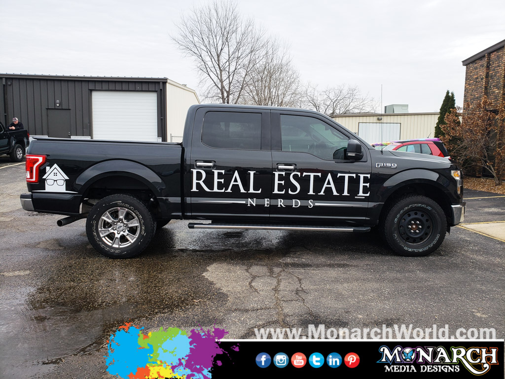 Real Estate Nerds Cut Vinyl Truck Graphics