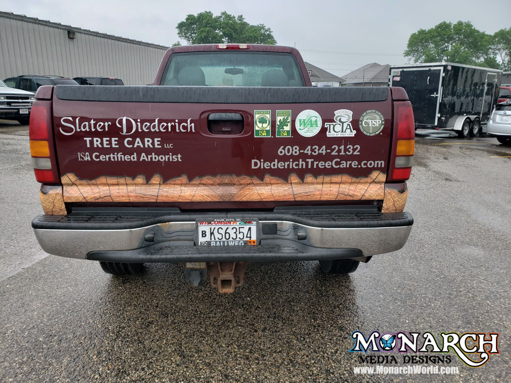 Slater Diederich Truck Partial Wrap Madison Wi