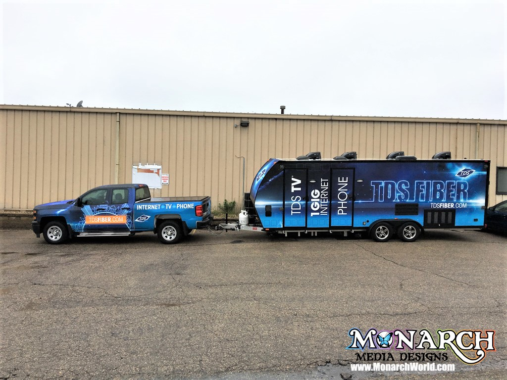 Tds Telecom Truck Trailer Wrap Madison Wi