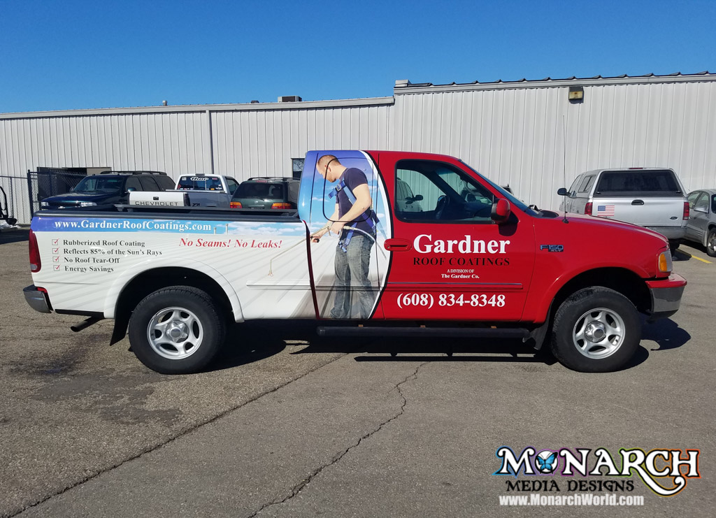 The Gardner Co Truck Partial Wrap