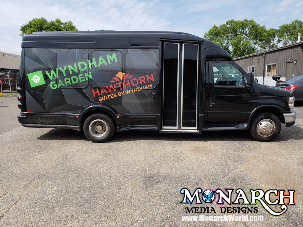Wyndham Hotels Partial Shuttle Bus Wrap