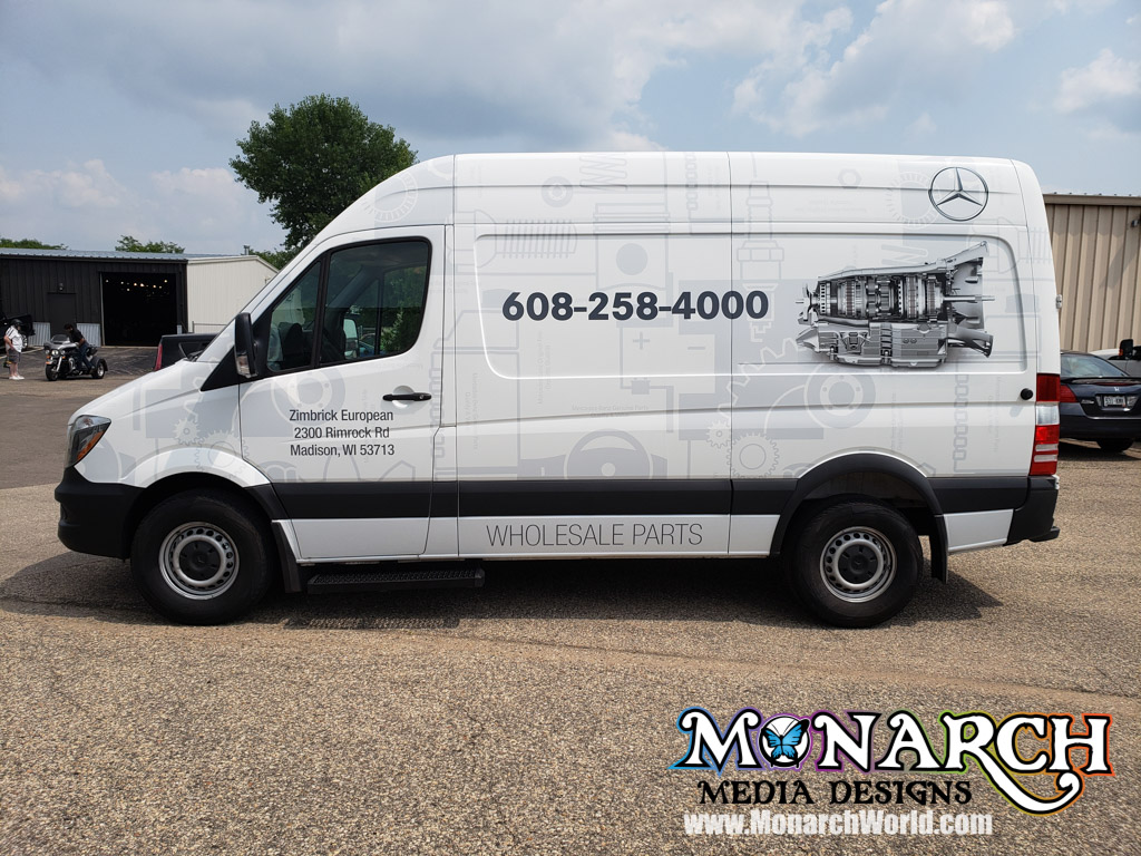 Zimbrick European Mercedes Sprinter Wrap