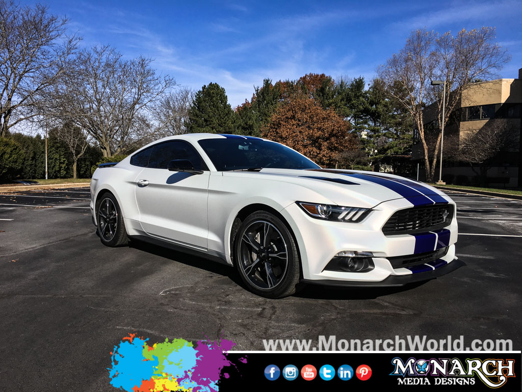 Mustang M Satin Ghost Flip Pearl Car Wrap
