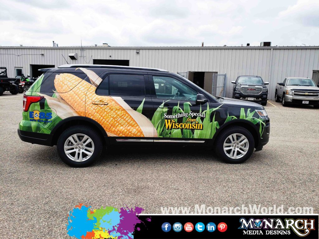 Alice In Dairyland Ford Explorer Partial Wrap