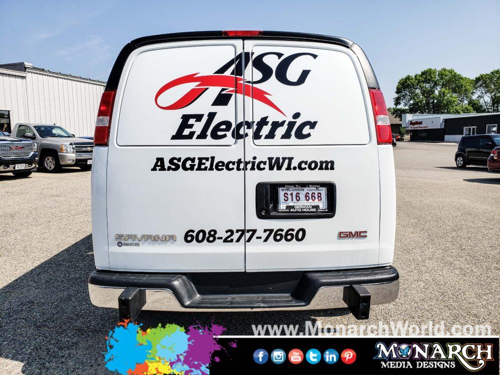Asg Electric Cut Vinyl Van Graphics