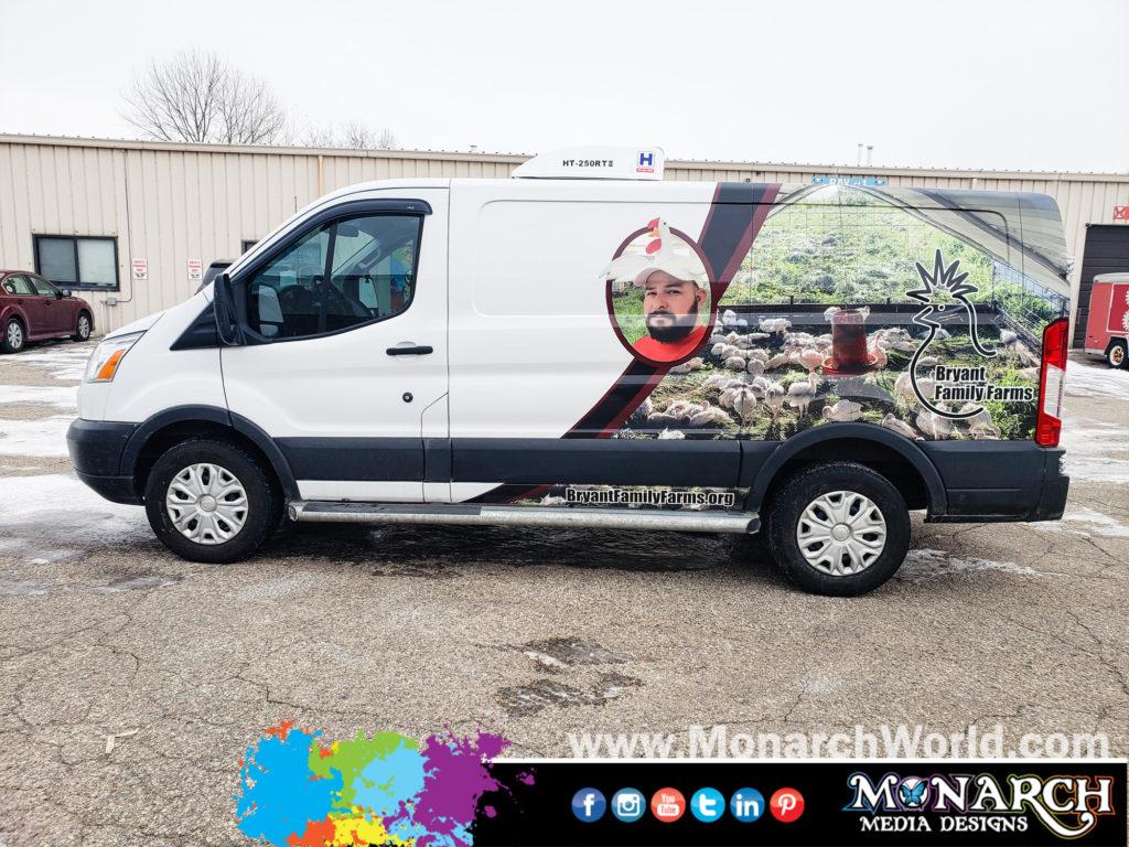Bryant Farms Partial Wrap Van