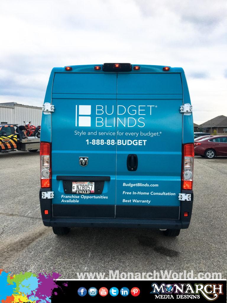 Budget Blinds Van Wraps