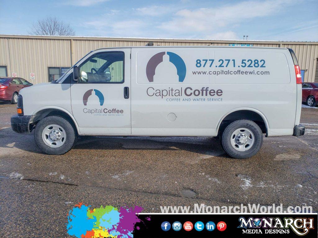 Capital Coffee Van Graphics