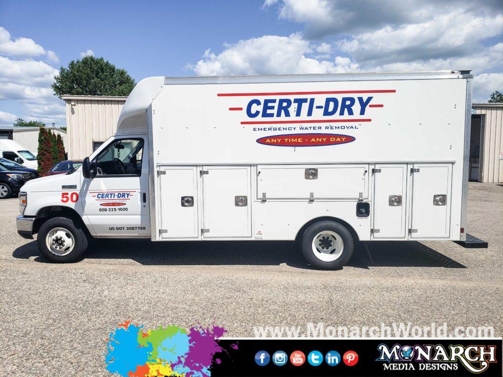 Certi Dry Box Truck Cut Vinyl Graphics