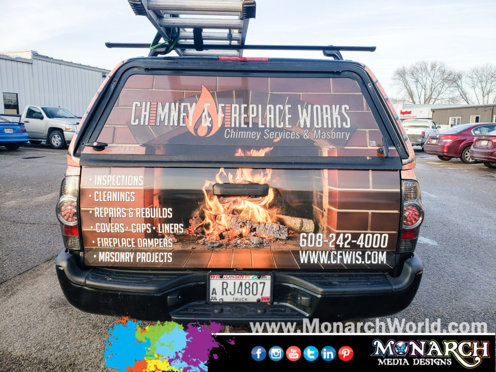 Chimney Fireplace Partial Truck Wrap