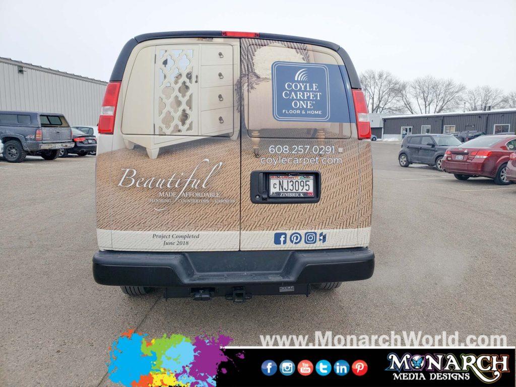 Coyle Carpet Van Wrap