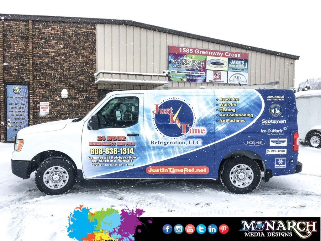 Just In Time Van Partial Wrap