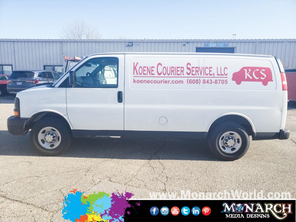 Koene Courier Service Van Vinyl Graphics