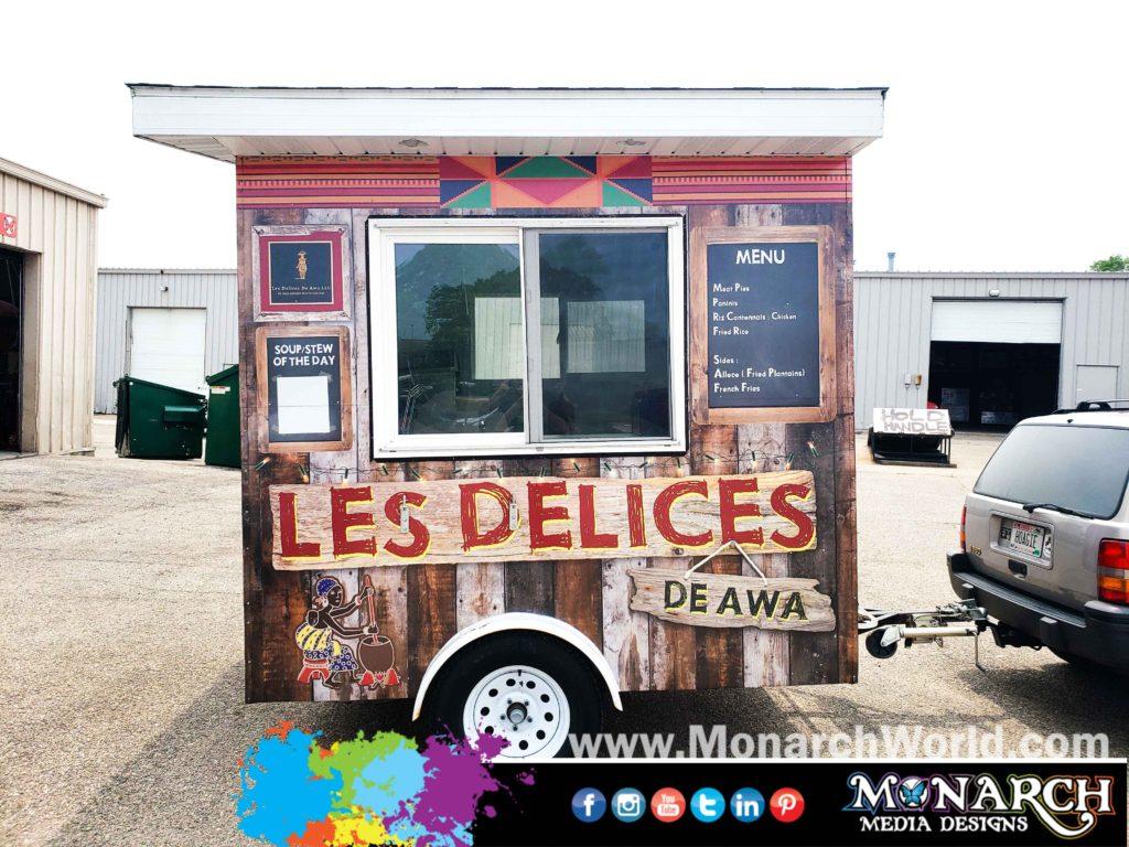 Les Delices De Awa Food Cart Wrap