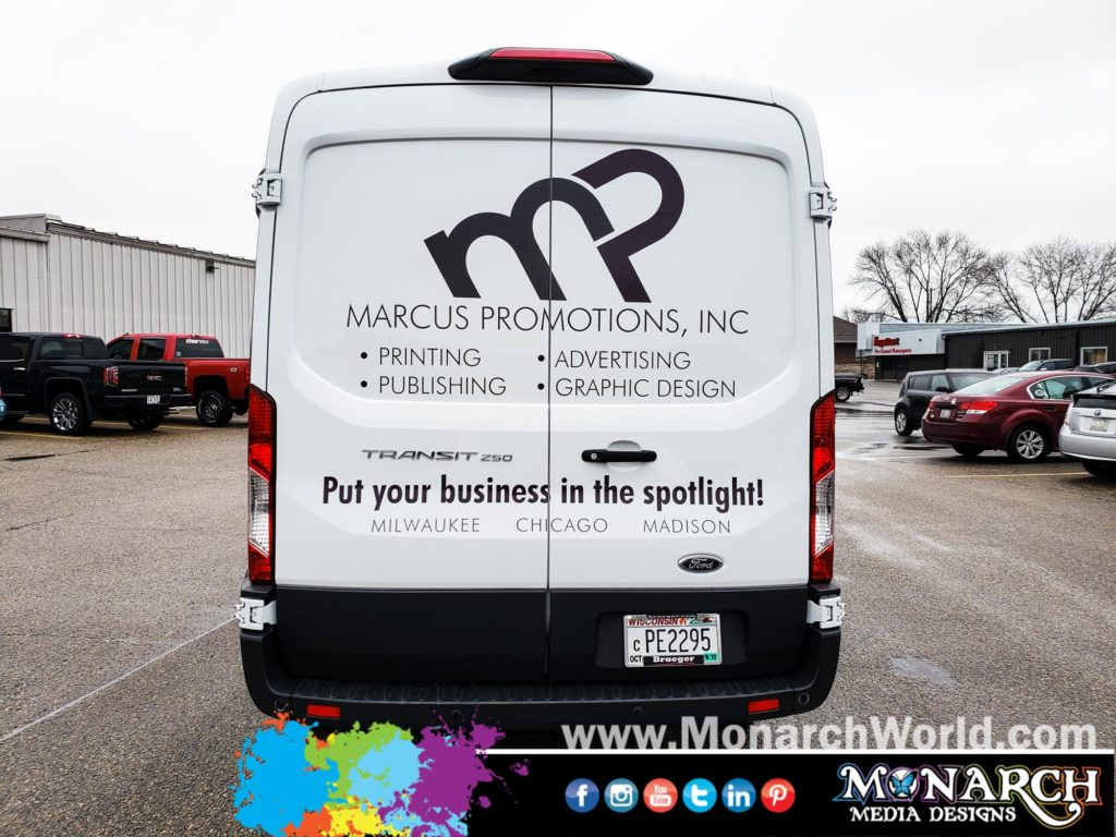 Marcus Promotions Footlights Partial Van Wrap
