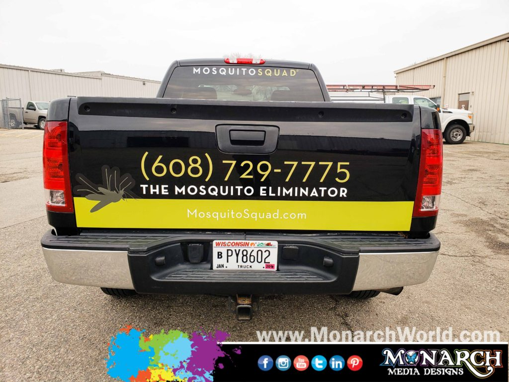 Mosquito Squad Madison Truck Partial Wrap
