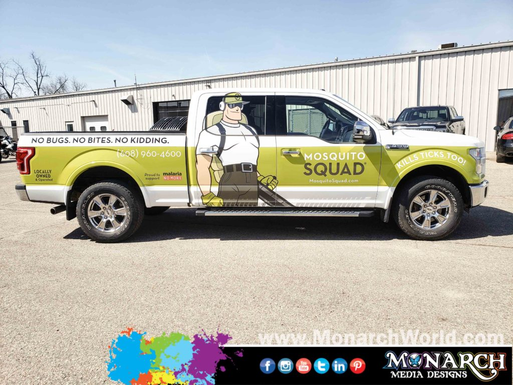 Mosquito Squad Scwi Truck Partial Wrap