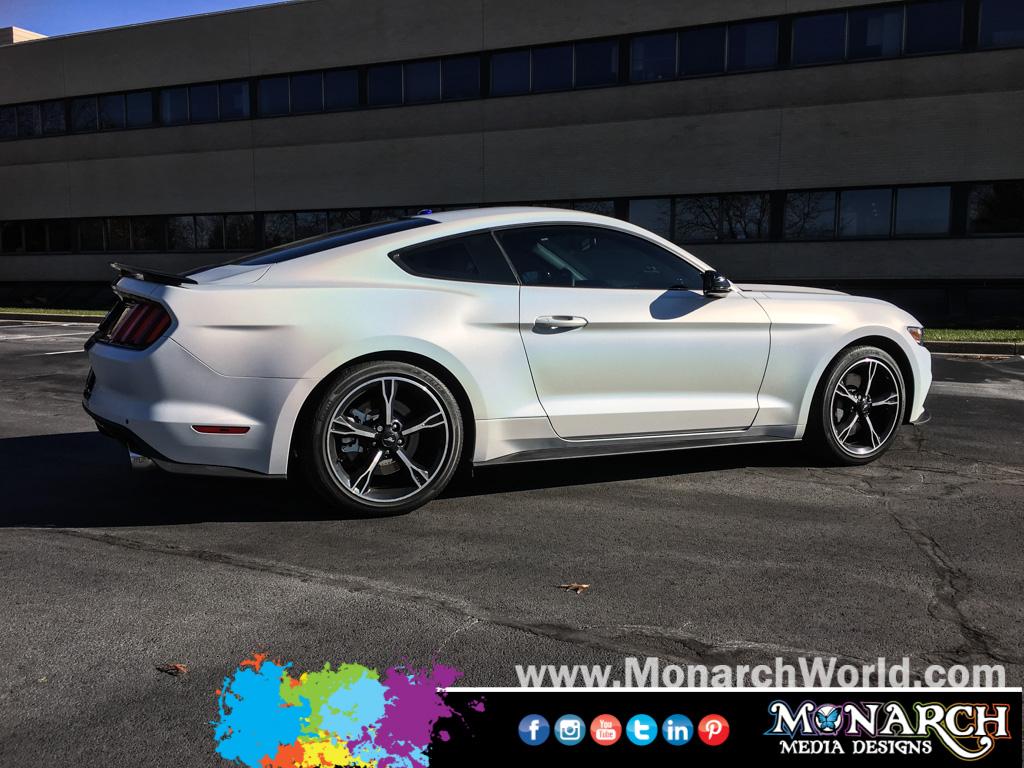 Mustang M Satin Ghost Flip Pearl Car Wrap