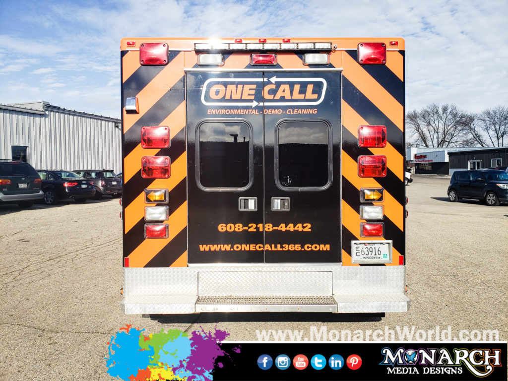 Onecall Ambulance Color Change Full Wrap Vinyl Graphics