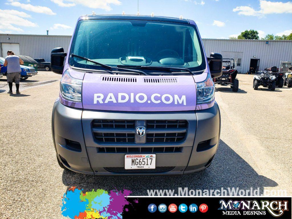 Radio Com Van Wrap