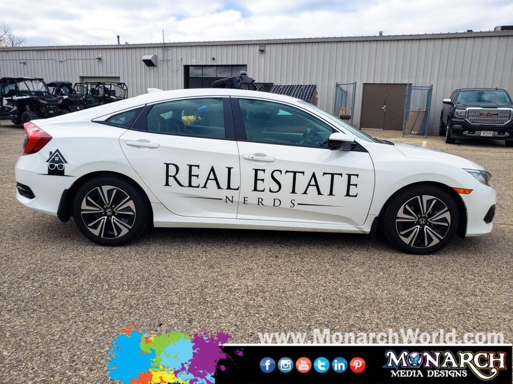 Real Estate Nerds Car Vinyl Graphics