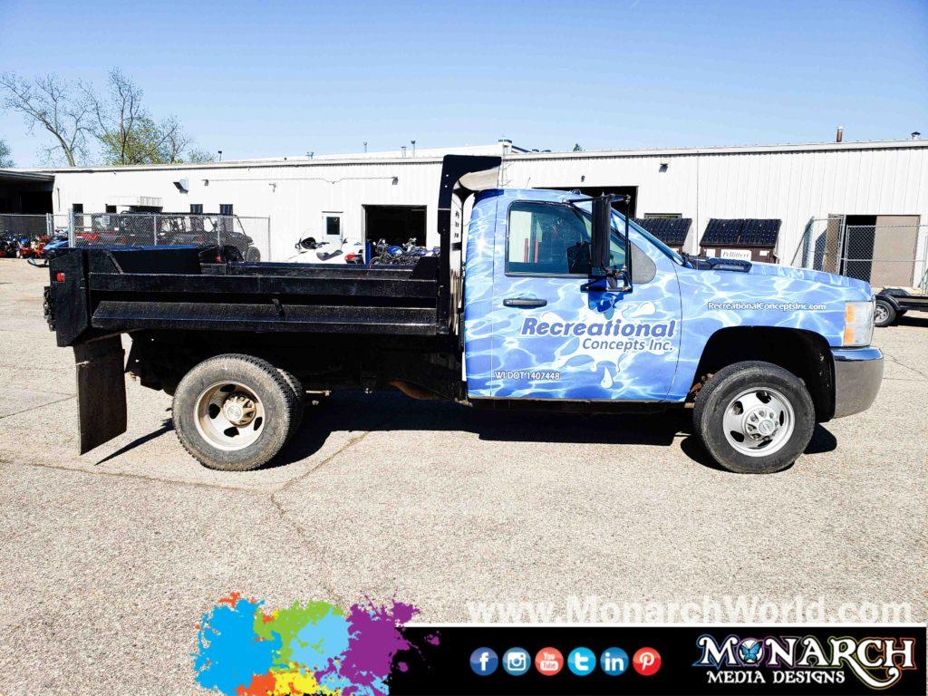 Rec Con Dump Truck Wrap Graphics