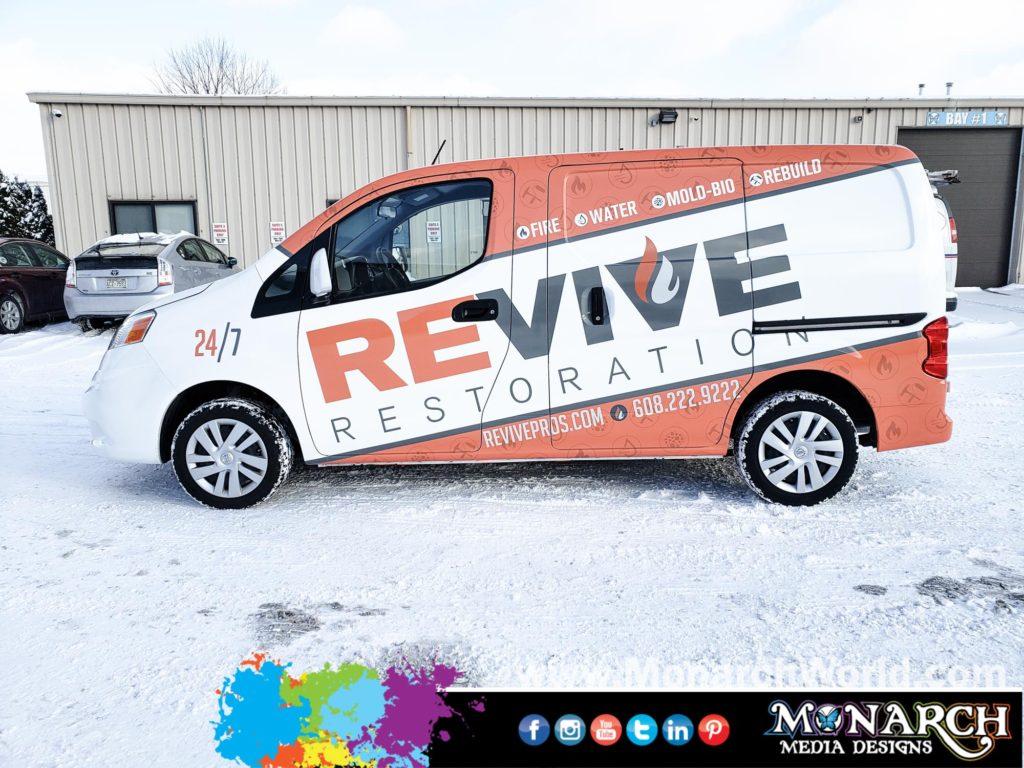 Revive Restoration Nissan Nv Partial Wrap
