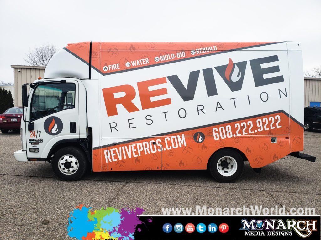 Revive Restoration Npr Van Box Truck Wrap