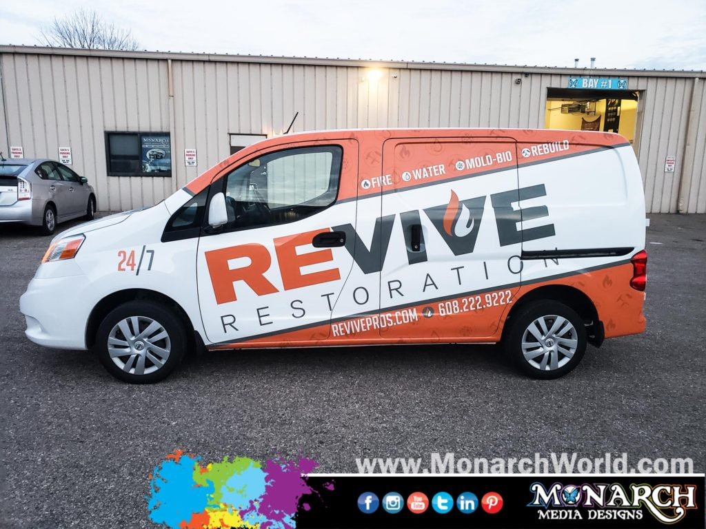 Revive Restoration Nv Vehicle Wrap
