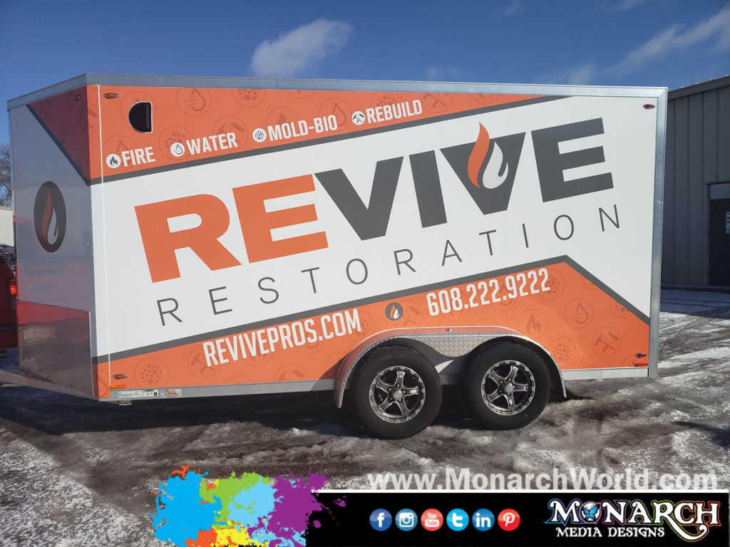 Revive Restoration Trailer Wrap