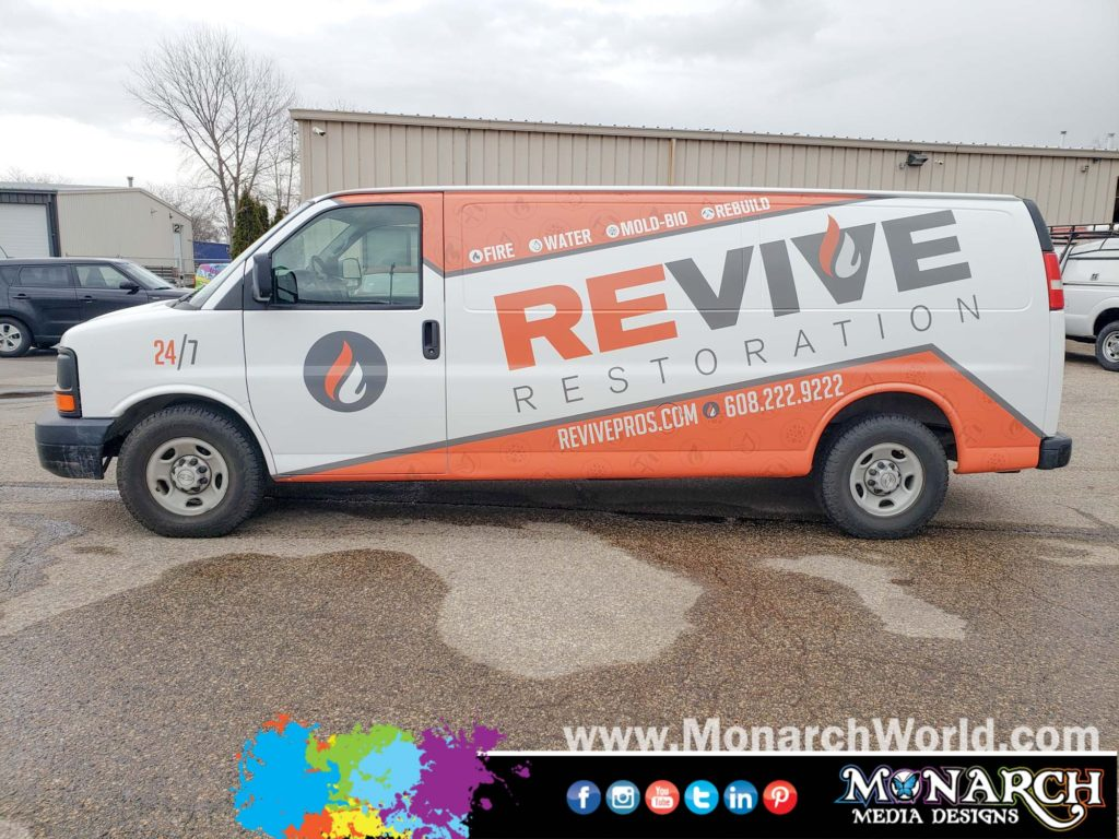 Revive Restoration Van Wrap