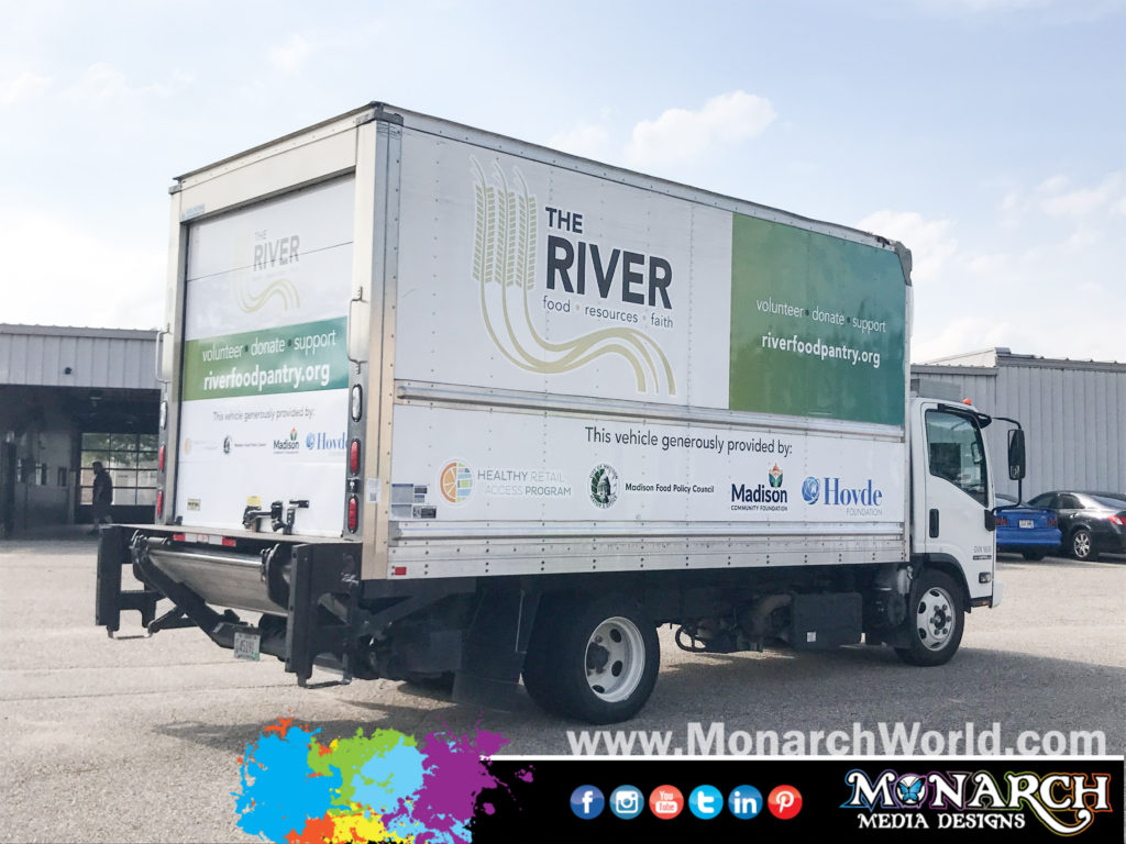 River Food Pantry Partial Box Truck Wrap