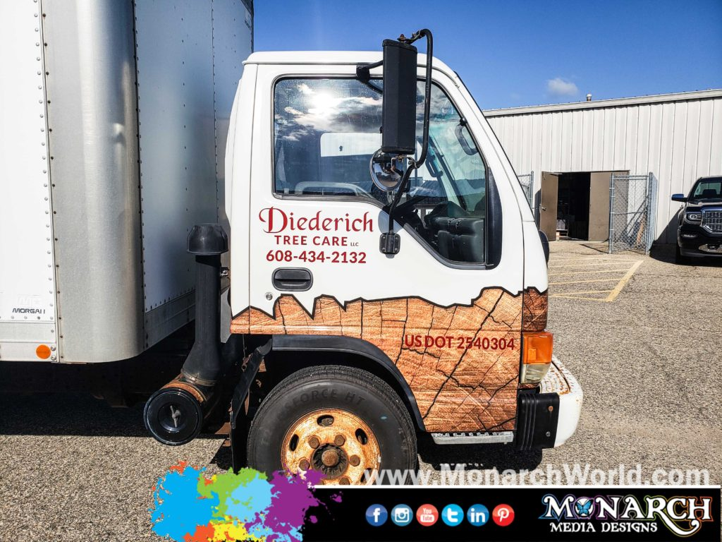 Slater Box Truck Cab Wrap Graphics