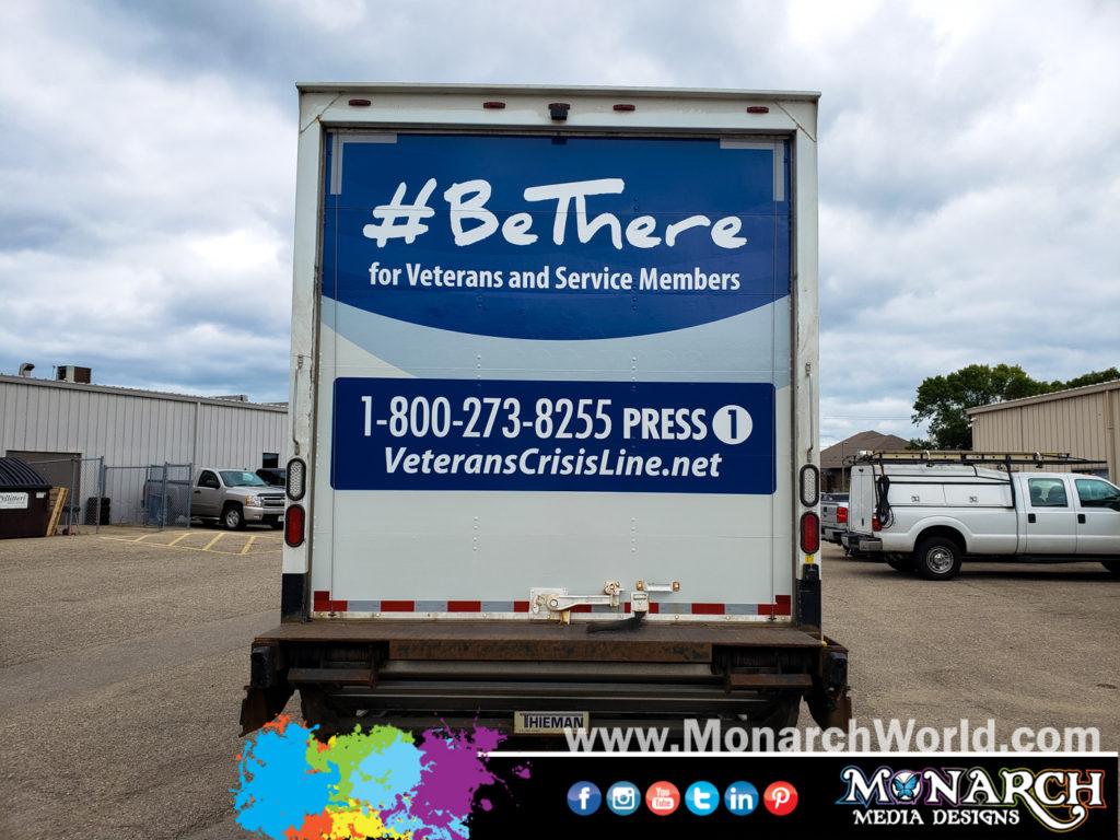 Veterans Hospital Back Truck Wrap