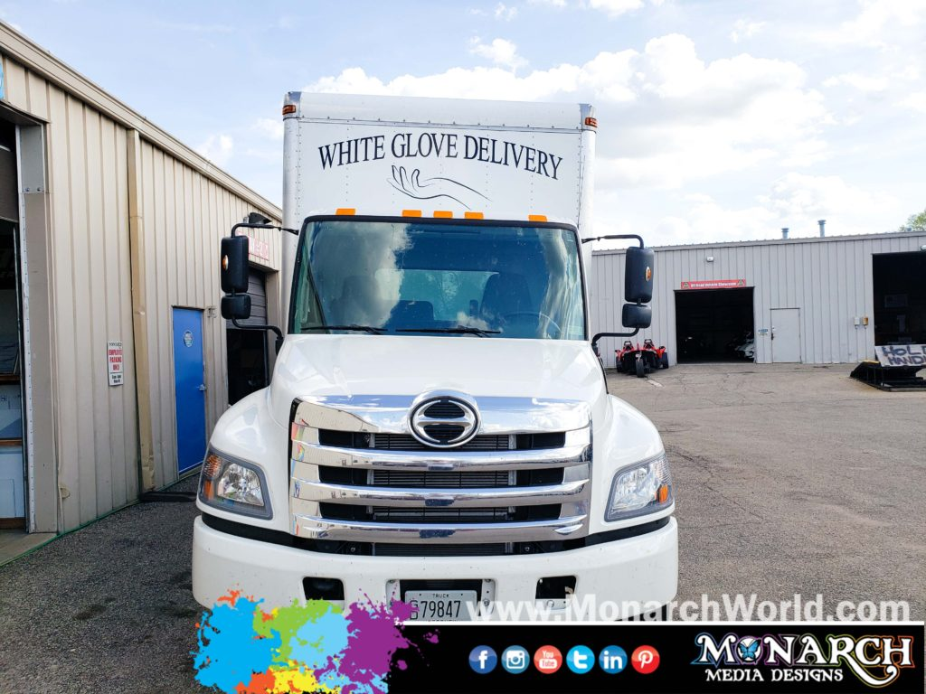 White Glove Delivery Truck Vinyl Graphic