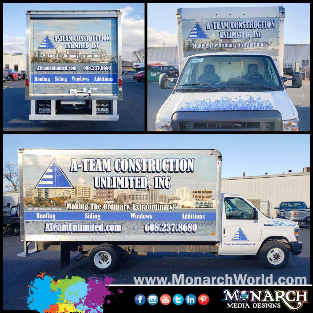 A Team Box Truck Wrap Collage