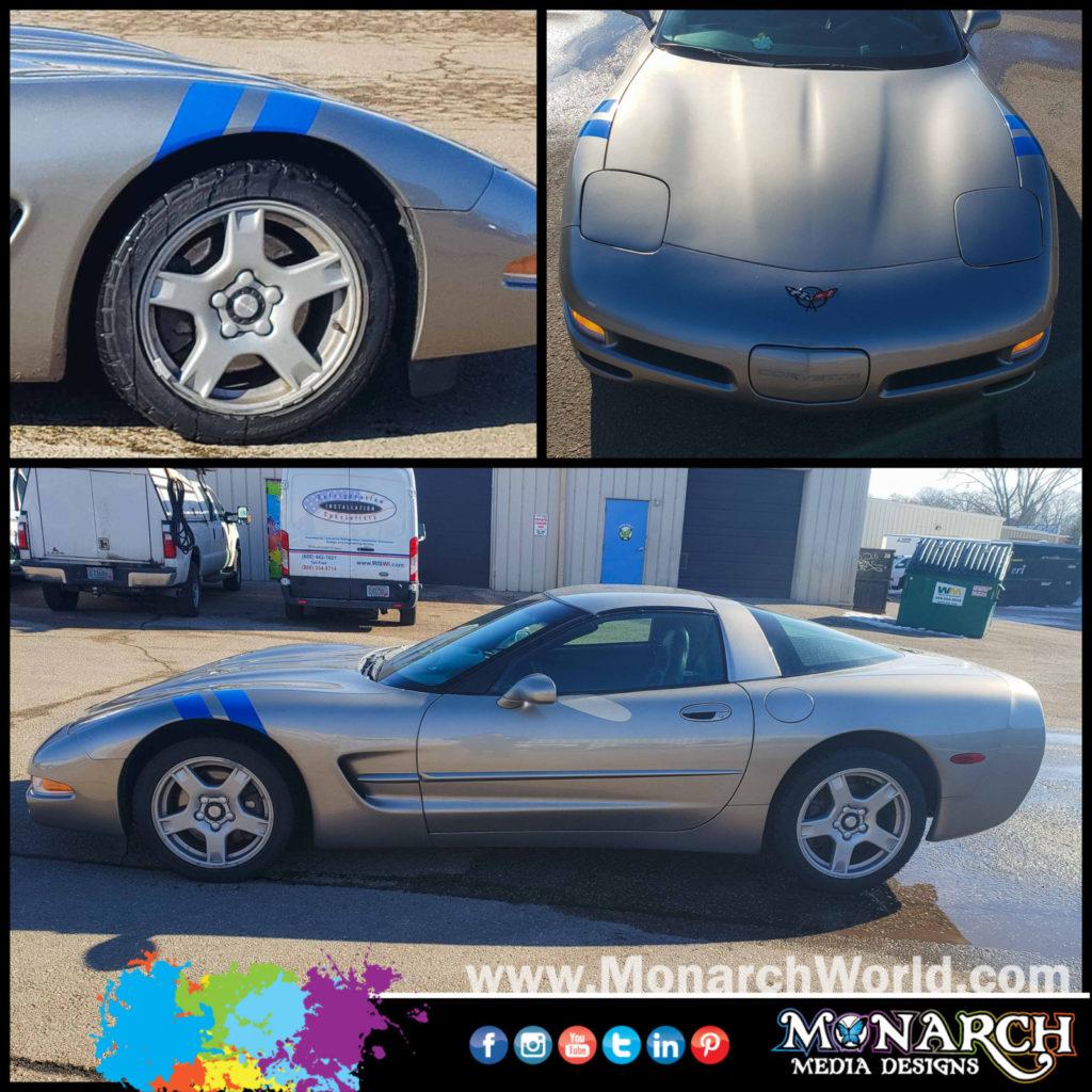 Corvette Blue Stripes Collage
