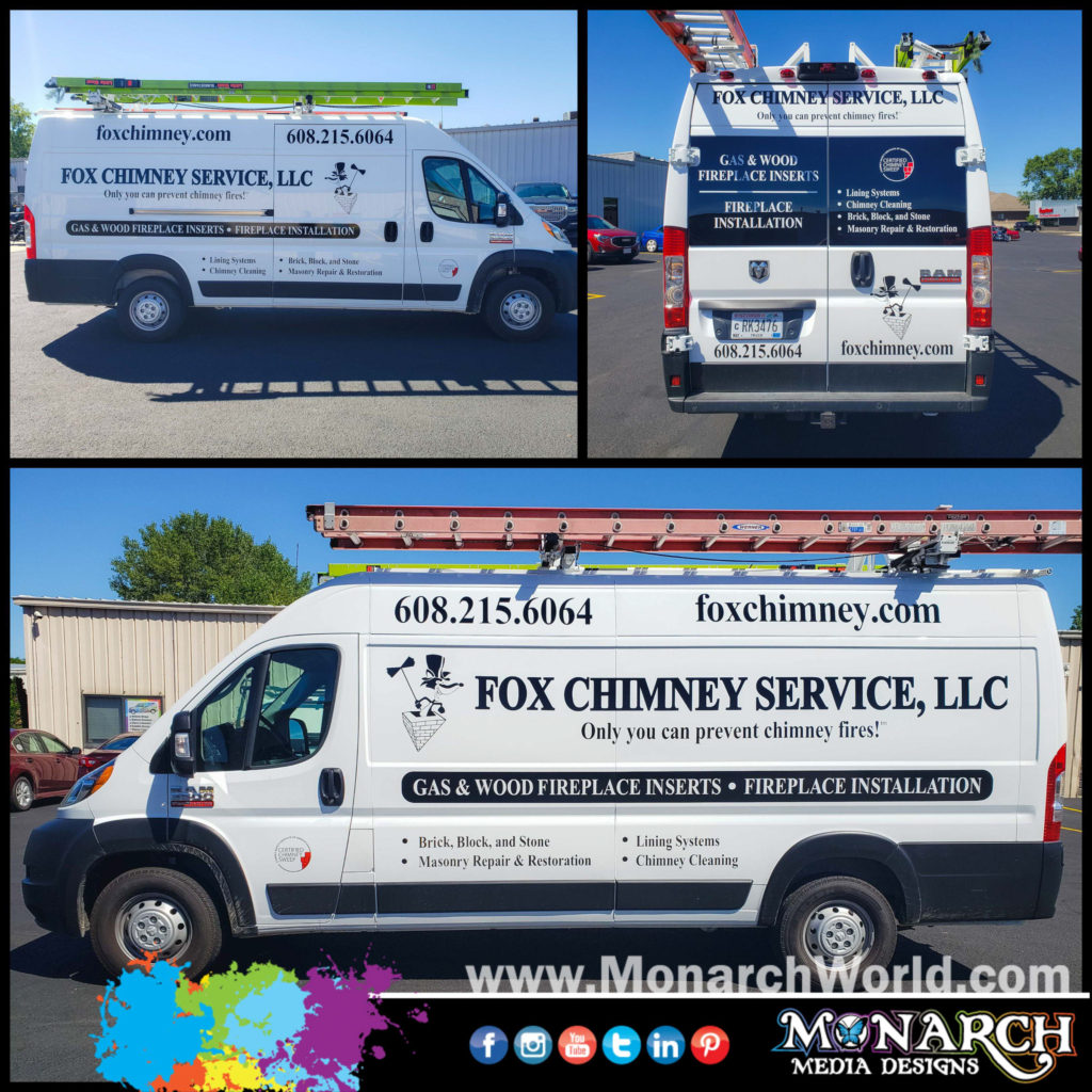 Fox Chimney Van Vinyl Graphics Collage