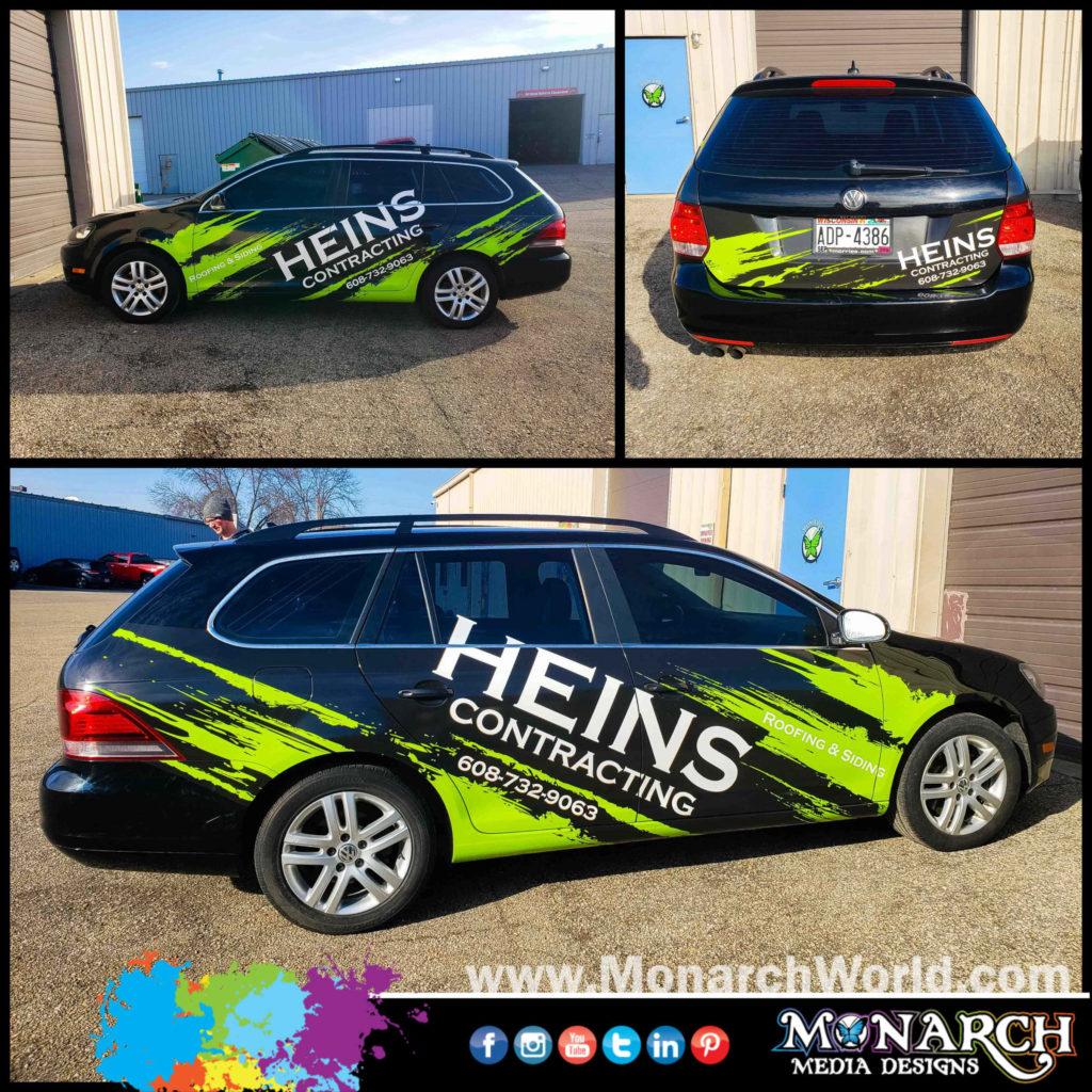 Heins Car Partial Wrap Collage