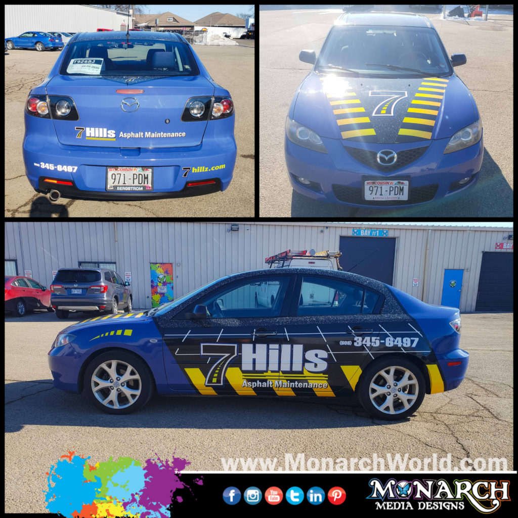 Hillz Mazda Car Wrap Collage