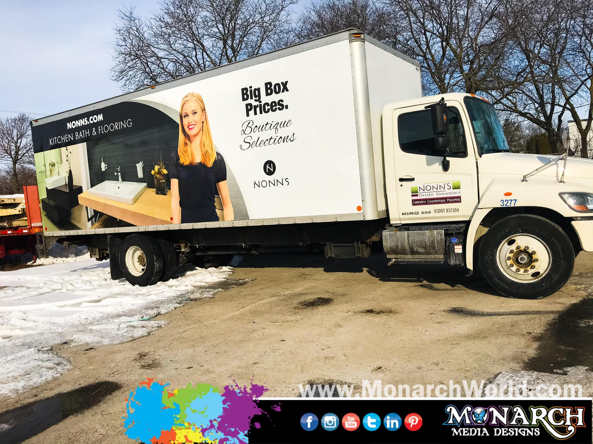 Nonns Box Truck Wrap