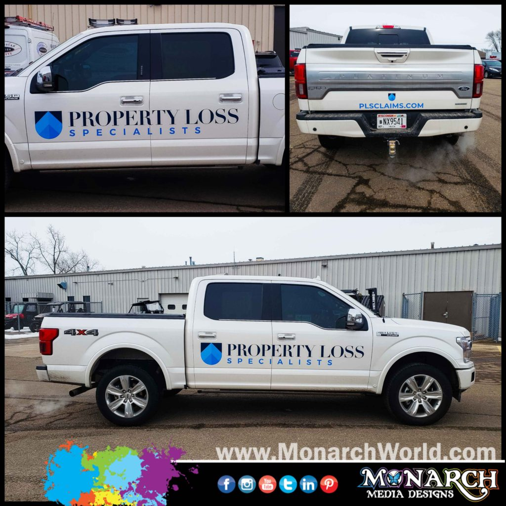 Property Loss Specialists Truck Graphics Collage