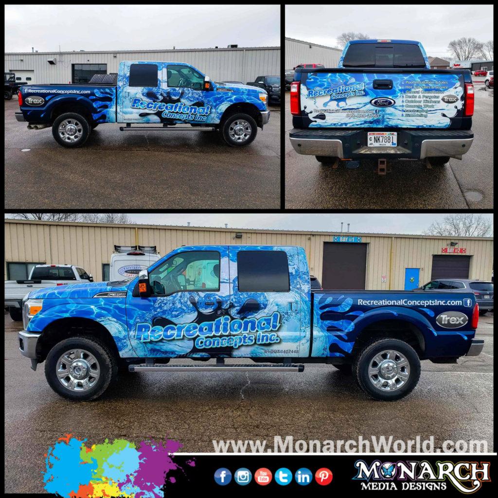 Rec Con Blue Truck Collage