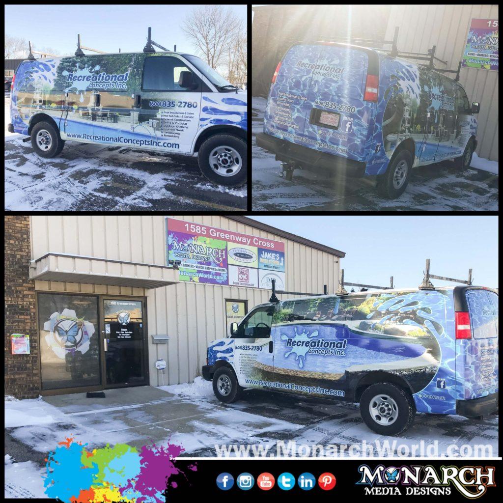 Rec Con Van Wrap Collage