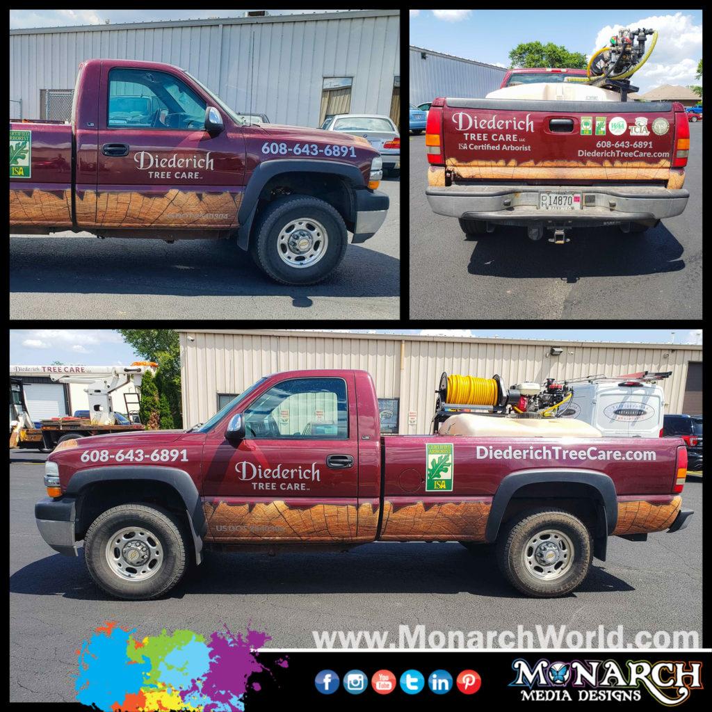Slater Deiderich Burgandy Truck Graphics Collage