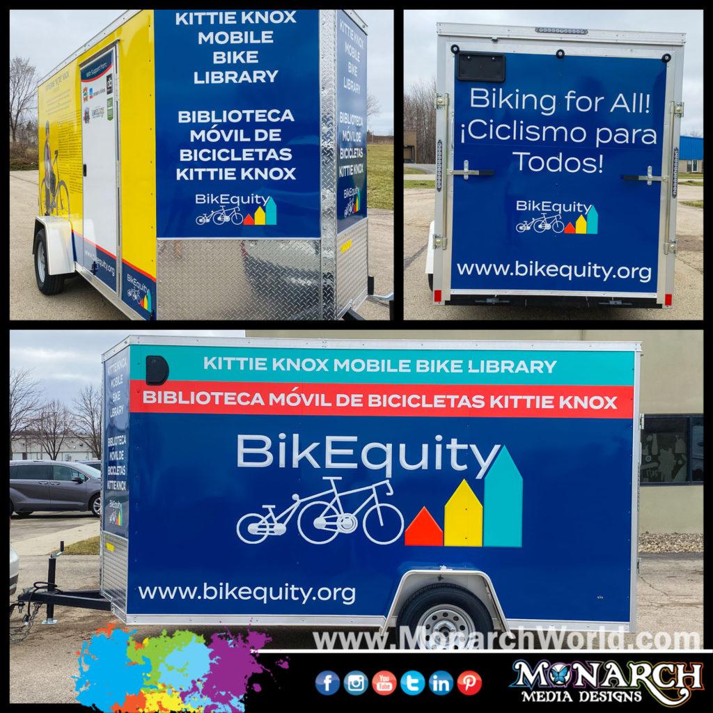 Bikequity Trailer Wrap Collage