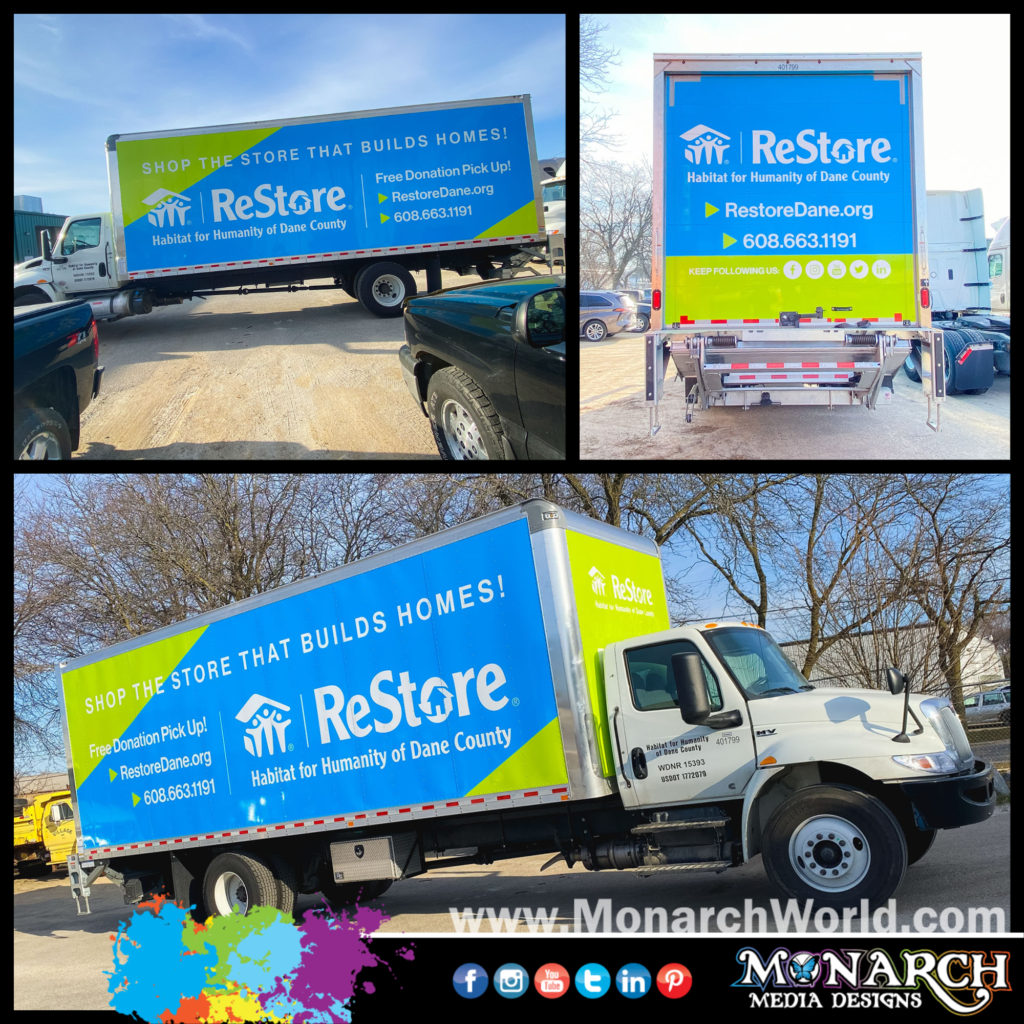 Habitat For Humanity Box Truck Wrap Collage