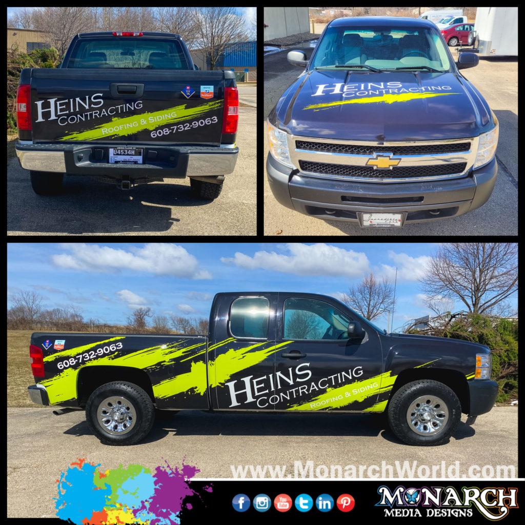 Heins Truck Wrap Collage
