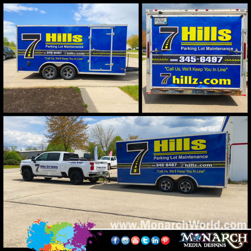 Hills Small Trailer Wrap Collage