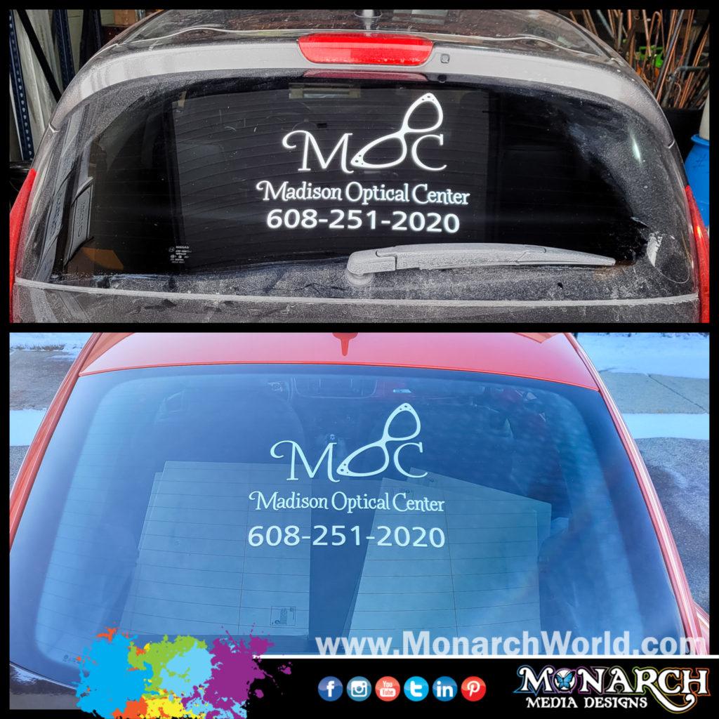 Madison Optical Center Vinyl Car Window Graphics